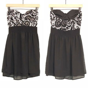 Rue 21 Black and White strapless dress